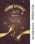 grand opening vertical banner.... | Shutterstock .eps vector #390041536