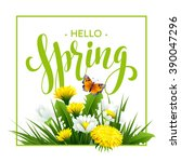 inscription spring time on... | Shutterstock .eps vector #390047296