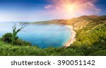panoramic landscape of the... | Shutterstock . vector #390051142