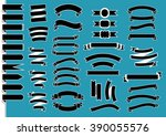 big ribbon set  | Shutterstock .eps vector #390055576