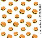 Fast Food Seamless Hamburger...
