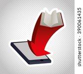 ebook icon design    Shutterstock .eps vector #390061435