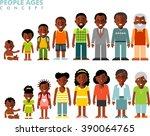 african american ethnic people... | Shutterstock .eps vector #390064765