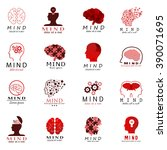 mind icons set   isolated on... | Shutterstock .eps vector #390071695