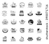food and market icons set... | Shutterstock .eps vector #390071716