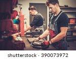 professional car mechanics...   Shutterstock . vector #390073972