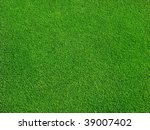 green grass on golf course | Shutterstock . vector #39007402