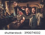 cheerful old friends having fun ... | Shutterstock . vector #390074032