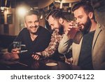cheerful old friends having fun ... | Shutterstock . vector #390074122