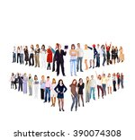 standing together office... | Shutterstock . vector #390074308