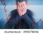 broken depressed businessman... | Shutterstock . vector #390078046