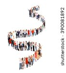 together we stand business idea  | Shutterstock . vector #390081892