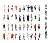 big group workforce concept  | Shutterstock . vector #390084148