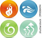 fire  water  soil and air icon... | Shutterstock .eps vector #39008494