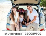 family of man woman and child... | Shutterstock . vector #390089902