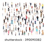 many colleagues workforce... | Shutterstock . vector #390090382