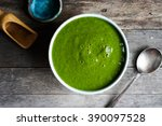 green detox smoothie with... | Shutterstock . vector #390097528