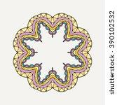 vector mandala. mehndi lace... | Shutterstock .eps vector #390102532