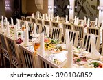 served table in restaurant | Shutterstock . vector #390106852