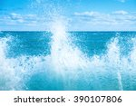 Big Wave On The Blue Sea. Surf...