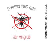 attention virus alert   stop... | Shutterstock .eps vector #390118966