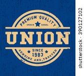 t shirt print design. union...   Shutterstock .eps vector #390127102