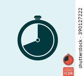 clock icon. timer stopwatch...