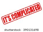 it's complicated red stamp text ... | Shutterstock .eps vector #390131698