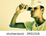 handsome african american male... | Shutterstock . vector #3901318