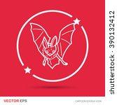 bat doodle | Shutterstock .eps vector #390132412