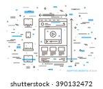 responsive web design vector...