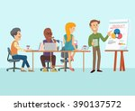 people doing meeting in... | Shutterstock .eps vector #390137572