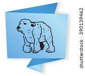 polar bear doodle | Shutterstock .eps vector #390139462