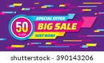 big sale vector origami... | Shutterstock .eps vector #390143206