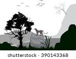 natural wildlife vector...   Shutterstock .eps vector #390143368
