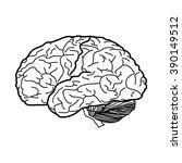 vector illustration of brain   | Shutterstock .eps vector #390149512