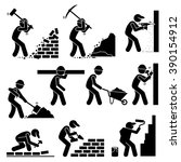 builders constructors workers... | Shutterstock .eps vector #390154912