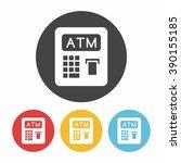 atm icon   Shutterstock .eps vector #390155185