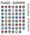 flags of europe | Shutterstock . vector #390157516