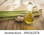lemongrass essential oils...   Shutterstock . vector #390162376
