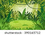 illustration jungle landscape  | Shutterstock .eps vector #390165712