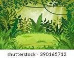 illustration jungle landscape  | Shutterstock .eps vector #390165712