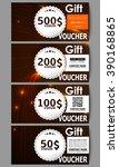 set of modern gift voucher... | Shutterstock .eps vector #390168865