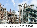 oil and gas refinery industrial ... | Shutterstock . vector #390175942