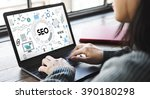 searching engine optimizing seo ... | Shutterstock . vector #390180298