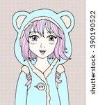 Amazing Anime Girl. Manga Styl...