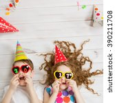 new years 2017 party. funny... | Shutterstock . vector #390211708