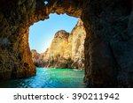 Rocky Grotto In The Sea