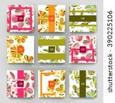 floral ornament vector brochure ... | Shutterstock .eps vector #390225106