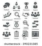 business management icons. pack ... | Shutterstock . vector #390231385